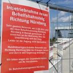 Der neue Behelfsbahnsteig ist in Betrieb