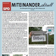 Titelbild der Juli-Ausgabe 2015 unserer Ortsvereinszeitung MITEINANDER.aktuell